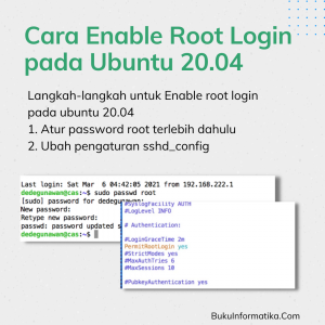 Cara Enable Root Login pada Ubuntu 20.04